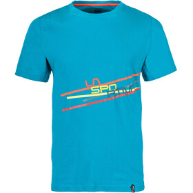 La Sportiva Stripe 2.0 T-Shirt Men Tropic Blue